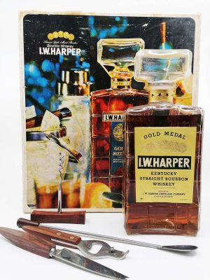 I.W. Harper 70's era cocktail decanter set