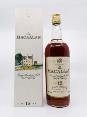 Macallan 12 years old 1980's 1000ml 43%
