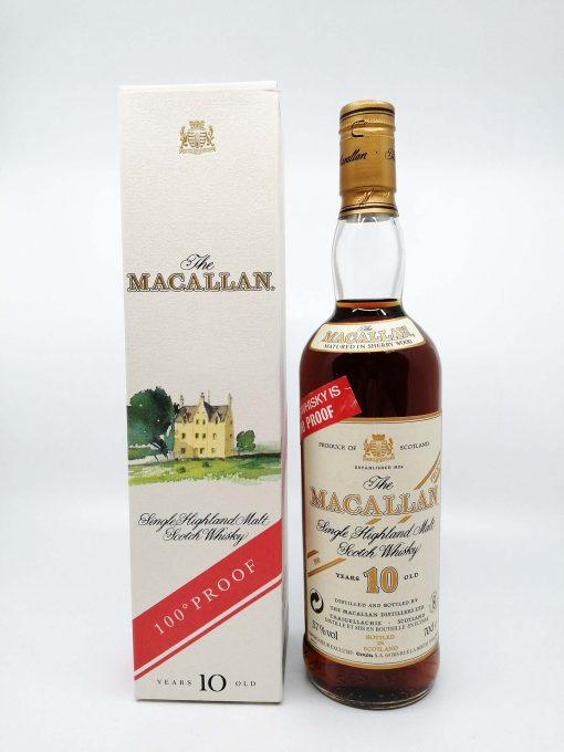Macallan 10 years old 100 proof 700ml 57%