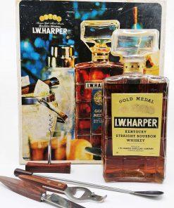 I.W. Harper 70's era cocktail decanter set