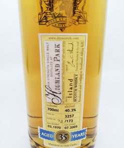 35 years old cask 3257 700ml 40.3%
